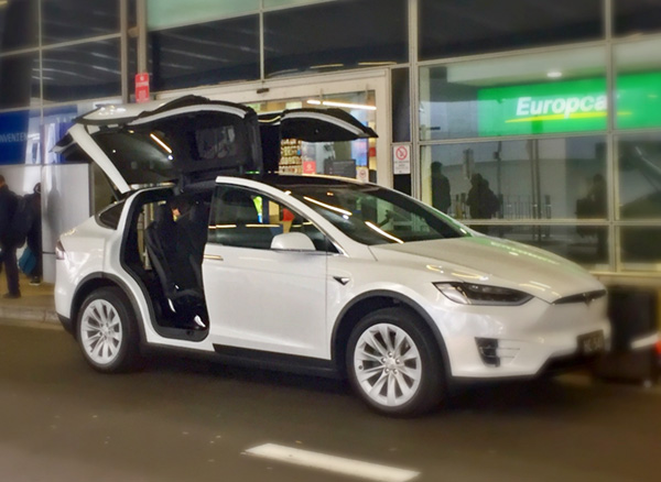 Limoline Airport Transfers in style with the new Tesla